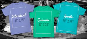 Shirt Size Chart, Jumbo shirt, Oversize shirt, Standard shirt