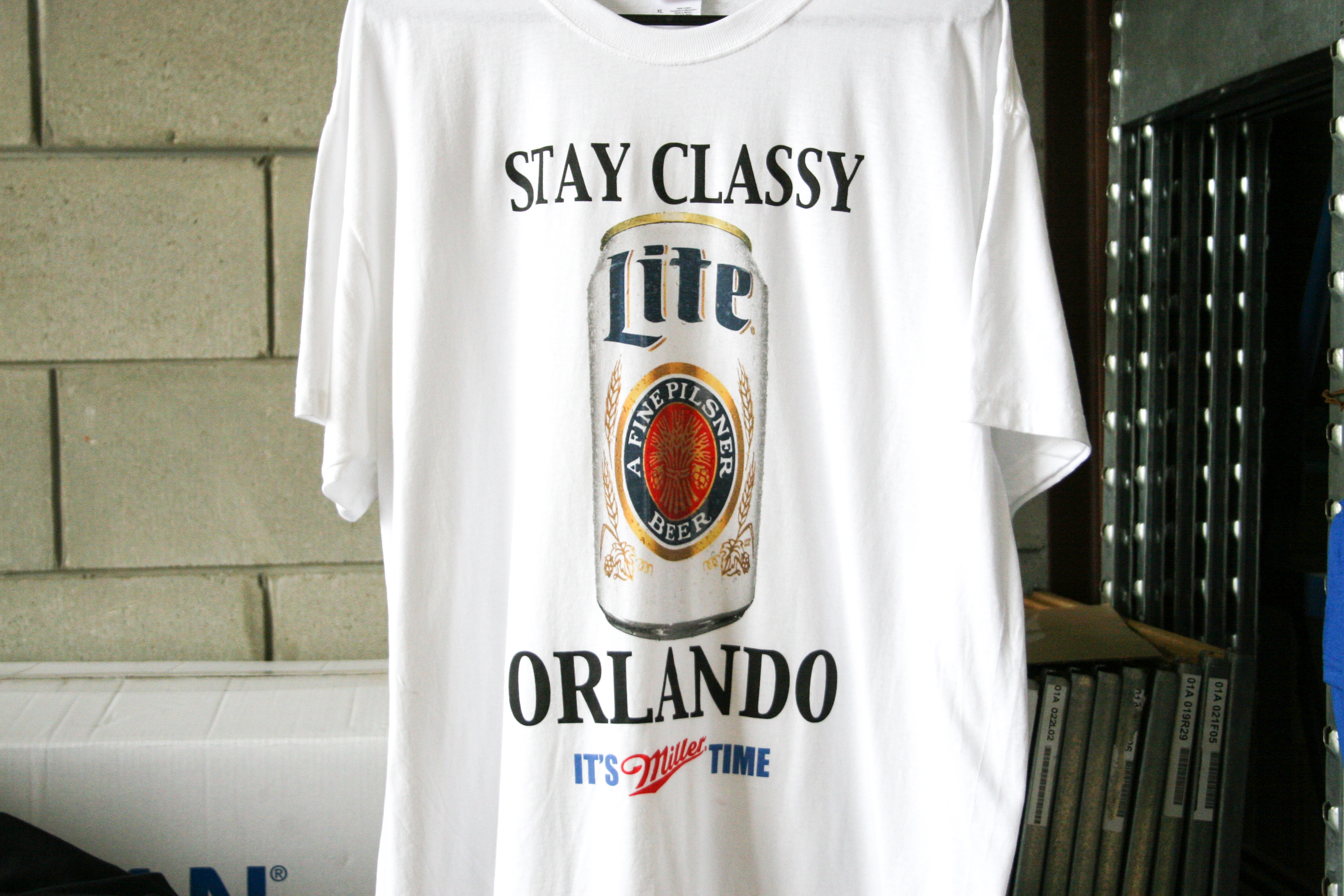 miller light custom t-shirt printing by impressionz printing