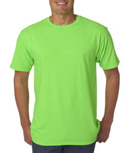 Mens Custom Short Sleeve Shirts #2: anvil 779 neon green