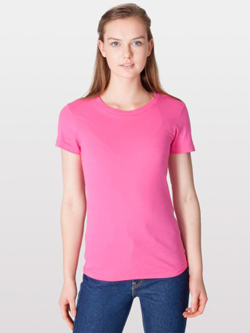 Womens custom fitted shirts american apparel jersey tee 2102 for American apparel custom t shirt printing