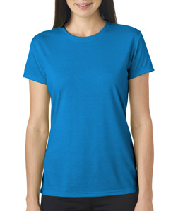 Womens custom wicking shirts gildan athletic shirt 42000l for Custom printed performance shirts