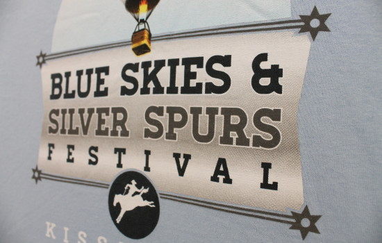 experience kissimmee blue skies and silver spurs festival t-shirt by impressions printing