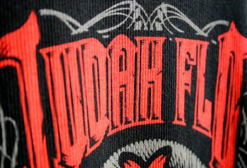 Judah Flo | Custom Water Based Discharge Lettering | Impressionz Printing