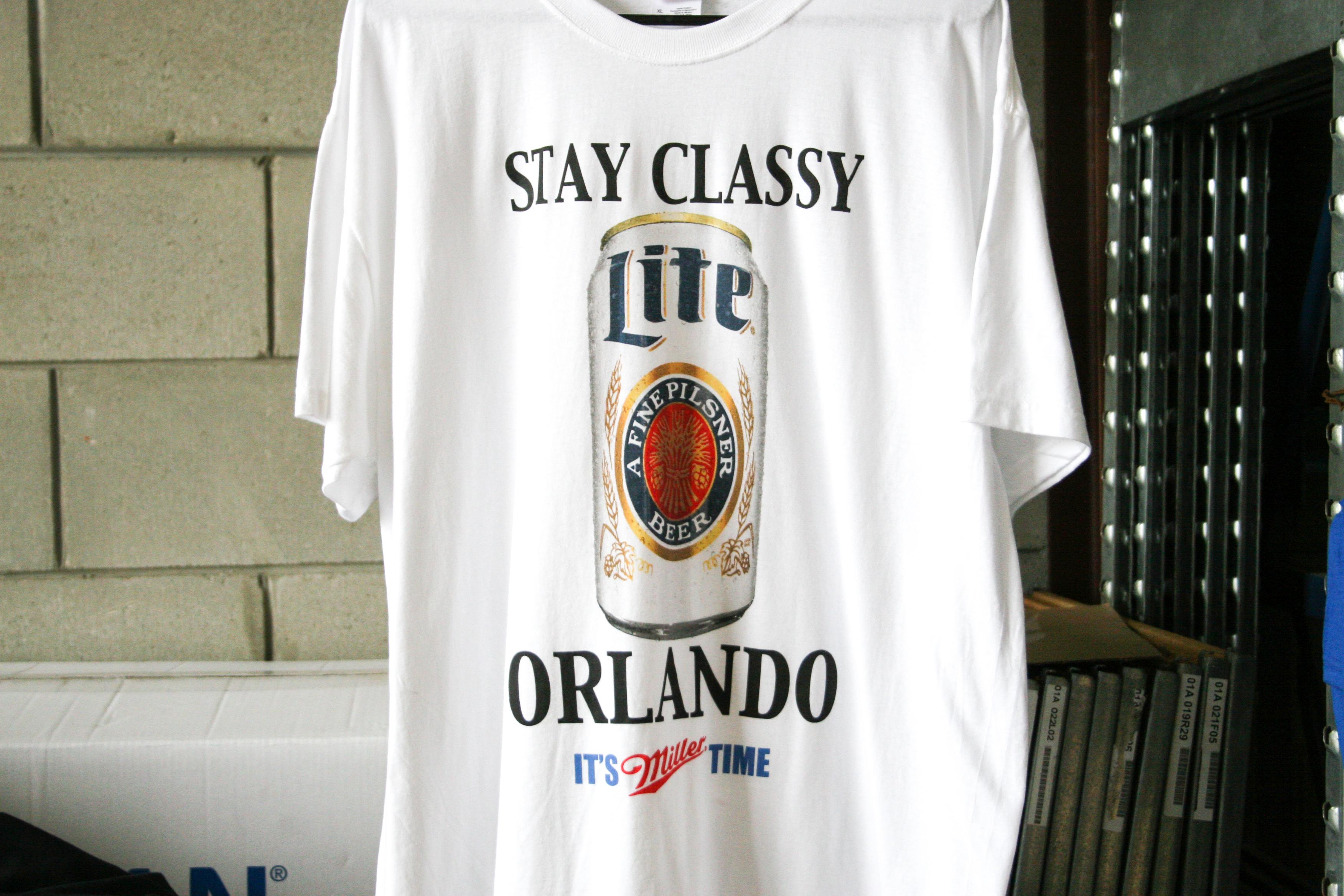 miller light custom t-shirt printing by impressionz printing
