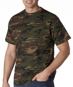 e7817eb8c6a829 Anvil – 939 – Adult Camouflage Tee