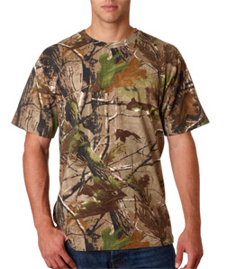 25d9b21d Mens Custom Camo Shirts | RealTree Short Sleeve Cotton T-Shirt