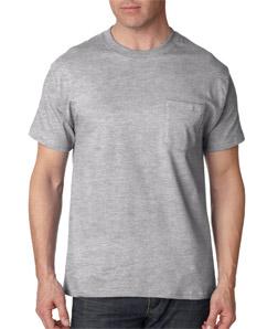 Mens Custom Short Sleeve Shirts Hanes Pocket Tee 5190