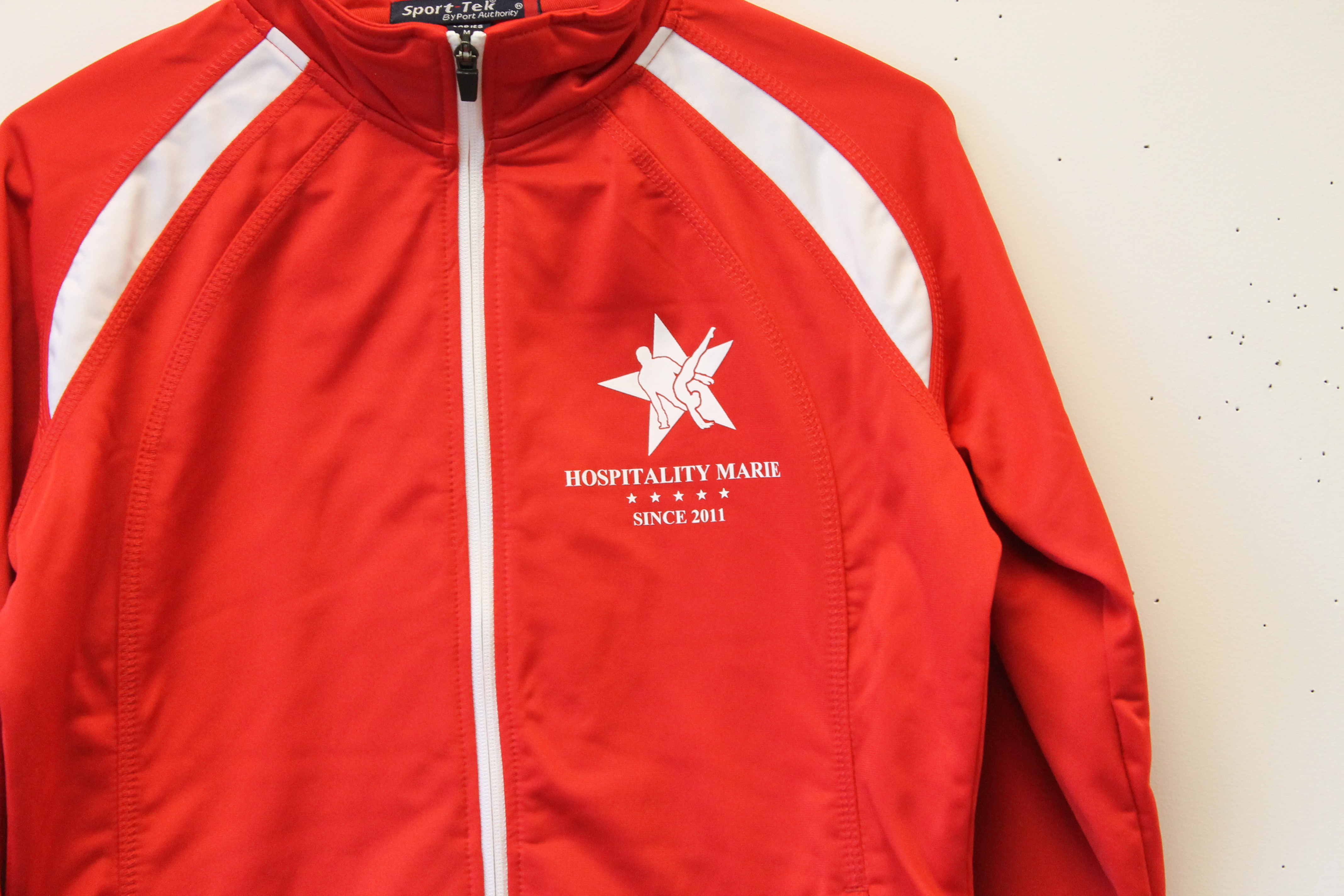athletic printing for hospitality marie by Impressionz Printing