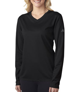 80367a39271ec New Balance® – NB7119L – Ladies' NDurance® Athletic Long-Sleeve V-Neck T- Shirt