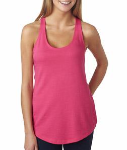 Black To Light Pink Ombre Womens Custom Tank Top...